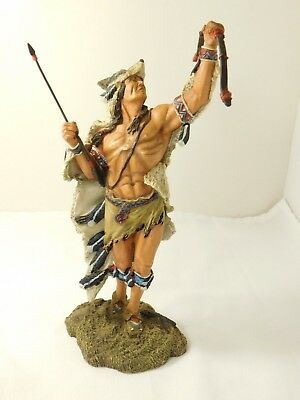 """Hamilton Collection """"mystic Spirits Of The Wolf  Sculpture 9""""tall"""