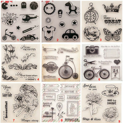 Car Flower Transparent Silicone Clear Stamps DIY Scrapbook Embossing Paper Card