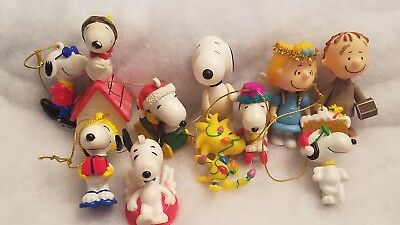 PEANUTS SNOOPY AND THE Gang CHRISTMAS ORNAMENT LOT of 12