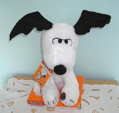 NEW w/TAGS & RARE ~ SNOOPY ANIMATED MUSICAL HALLOWEEN PLUSH DOLL TOY ~ BAT EARS
