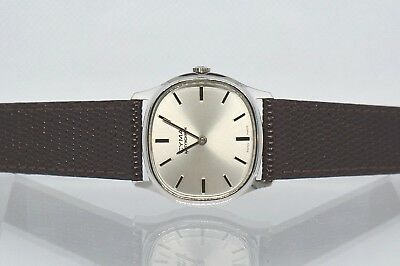 CYMA by Synchron rare, vintage men's watch. Swiss Made.WHITE gold plated.Running