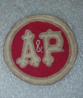 Vintage A & P Grocery Store Patch Atlantic Pacific Uniform Embroidered Badge A&P