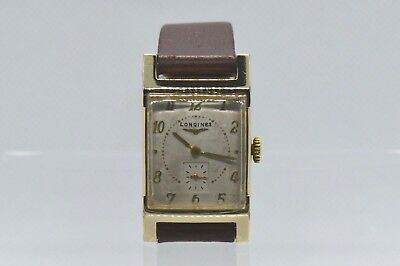 LONGINES Vintage (1951) Men's watch. 10K Gold filled. Swiss Made. Running.