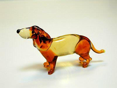 Dashshund, Taksa  - Hand Made Art Glass Dog Breeds figurines