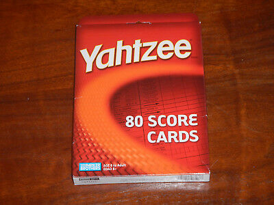 Yahtzee Score Cards Pads 80 Brand NEW Sealed Parker Brothers Board 2004
