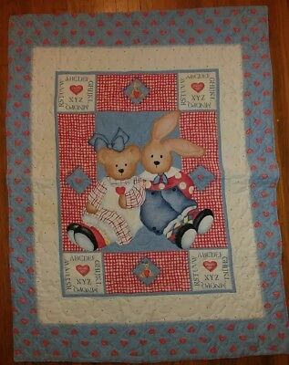 Baby or Wall Hanging Quilt Handmade unisex Boy Girl