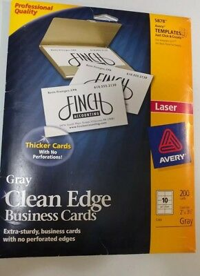 avery 5878 gray clean edge business cards smooth professional look