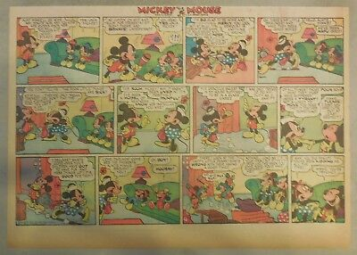 Mickey Mouse Sunday Page by Walt Disney from 10/27/1940 Half Page Size