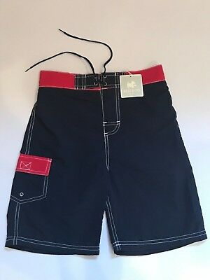 BEST & CO. Boys Boutique Cargo Style Swim Trunks Board Shorts Lined Size S