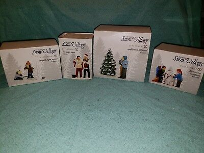 Dept 56 Snow Village Lot Sasquatch Suit Up Santa Proposal Blue Ribbon Christmas
