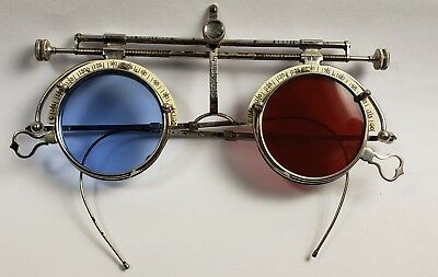 Optometrist's vintage trial lens frame.  Steampunk sunglasses.  Nice condition!