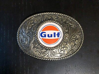 Gulf Oil & Gas Company Belt Buckle, Petroleum Service Station Advertising