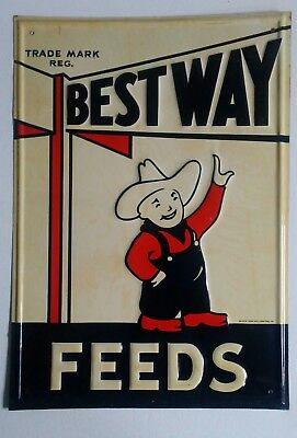 Vintage Bestway Feed Sign Original Sign in Great Condition