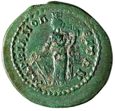 "BEAUTIFUL GREEN PATINA Coin of Commodus From Markianopolis in Moesia ""Tyche"" VF"