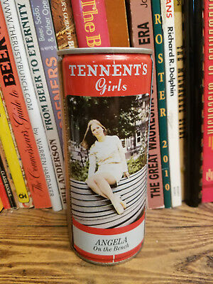 Tennent's Lager 440ml Pull Top Beer Can  Angela on the bench
