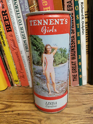 Tennent's Lager 440ml Pull Top Beer Can  Linda Carefree