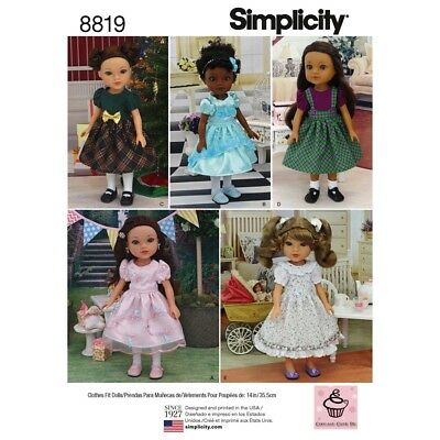 """Sewing Pattern 14"""" Doll Dresses! Fit American Girl Welliewisher~Heart For Heart"""