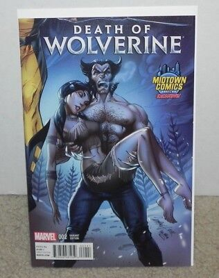 Death Of Wolverine #2 Midtown Exclusive J. Scott Campbell Connecting Variant