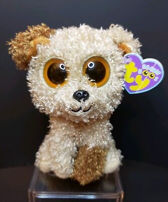 f99d142c8eb TY Beanie Boo Rootbeer the Brown Dog 2013 Original Solid Eyes 6