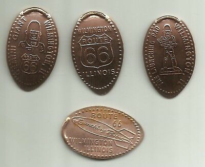 4 copper elongated pennies (cents) LAUNCHING PAD Wilmington IL