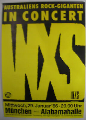 Inxs Concert Tour Poster 1986 Listen Like Thieves