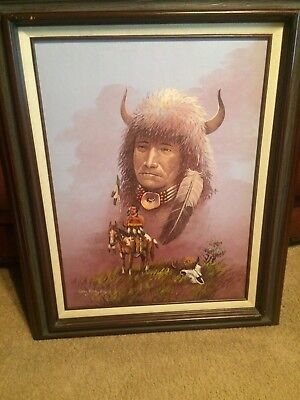 Guy Nez Jr 31x25 Original Oil Painting Signed by Native American Artist