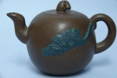 Very Interesting Chinese Yixing Teapot With Seal Marks - Rare