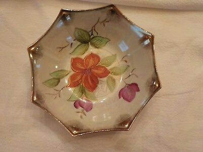 Made In Japan   Candy Dish Floral Decorative
