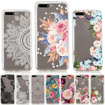 For Huawei Y6 Y7 Prime 2018 Honor 10 7A 7C Painted Slim Soft Silicone Cover Case