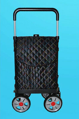 D123 Rugged Aluminium Luggage Trolley Hand Truck Folding Foldable Shopping Cart