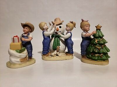 "Denim Days by Homco Figurines ""Its Christmas"""