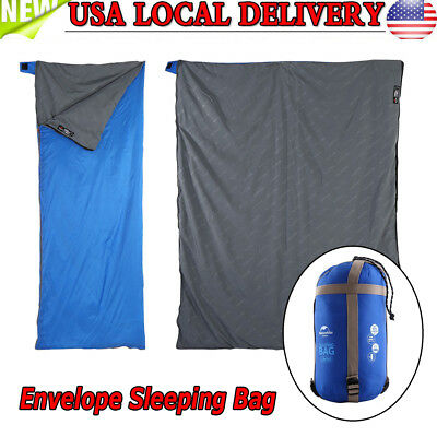 Envelope Mini Sleeping Bag Lightweight Waterproof Season Camping Hiking190x75CM