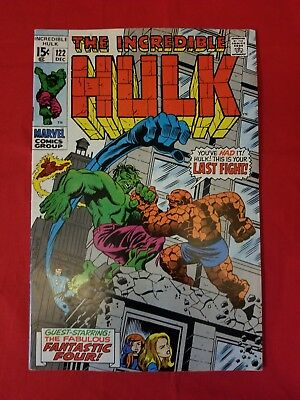 The Incredible Hulk #122 Hulk vs. Thing 1969 Marvel - Silver Age - Herb Trimpe