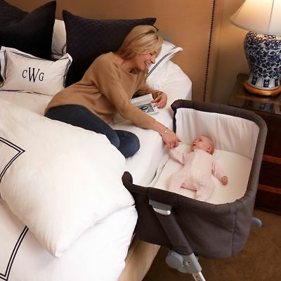Brand New Childcare Cosy Time Sleeper Baby Bassinet Bed Cot GREY FreePostage