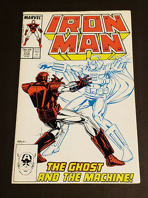 Iron Man #219 (VFN/NM) 1987 Marvel Comics 1st App Ghost - Ant Man/Wasp Movie