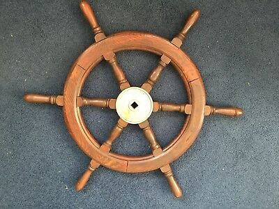 Antique Wooden Ships Wheel   36 inches