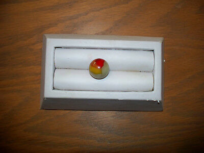 "Vintage HTF Akro Agate Popeye Patch Marble 5/8+"" Hybrid Red Orange Yellow, Mint"