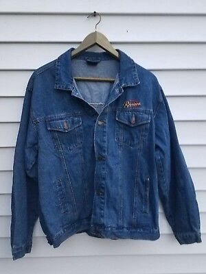 Vintage Levi Jean Jacket Embroidered Riviera Hotel and Casino Las Vegas Mens XL