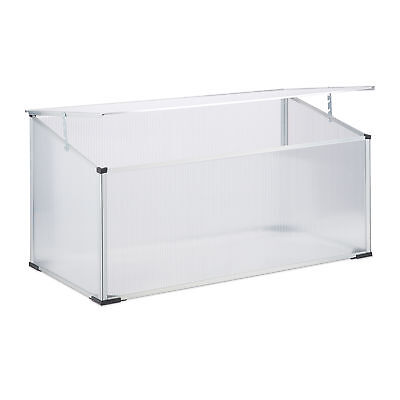 Aluminium Cold Frame, Plug-In System, Small Greenhouse, Plant Protection