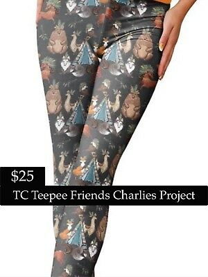 22898d2f3fdf6d Brand New With Tags TC TeePee Friends Leggings Charlies Project Fits:16-22