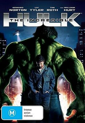 The Incredible Hulk DVD Aus Region 4