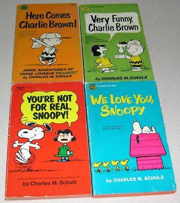 Lot of 4 PEANUTS Books by Charles M. Schulz