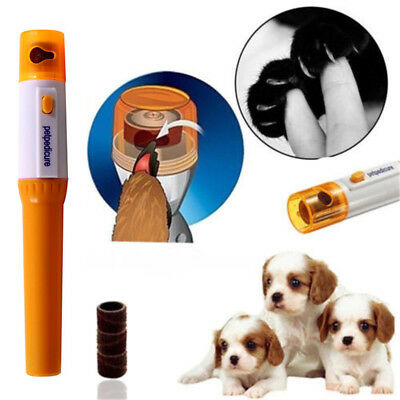 Electric Pet Dog Cat Paw Nail Grooming Grinder Trimmer Claw Clipper Nail File UK