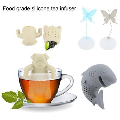 Infuser Loose Tea Leaf Strainer Herbal Spice Filter Diffuser Silicone 3 Types