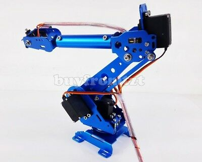 6 Axis Robot Arm Mechanical Robot Arm Free Manipulator with Servos tzt-