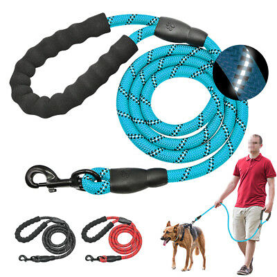 eflective Large Dog Leash Nylon Rope Pet Running Tracking Leashes Long Lead Dog