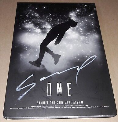 SAMUEL ONE 2nd Mini Album K-POP REAL SIGNED AUTOGRAPHED CD #1