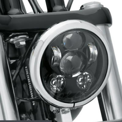 5-3/4 5.75 Inch 45W  Projector LED Headlight DRL Harley Davidson Motorcycle