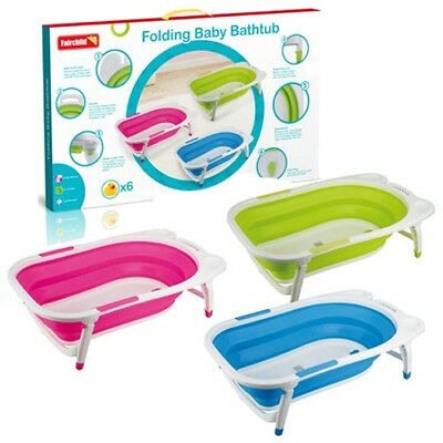Baby Folding Bath Tub Infant Newborn Toddler Foldable Safety Bathtub