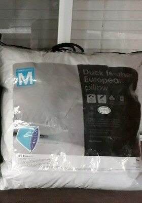 1 Duck Feather European Pillows. Target! Brand New. Size m. 2 available